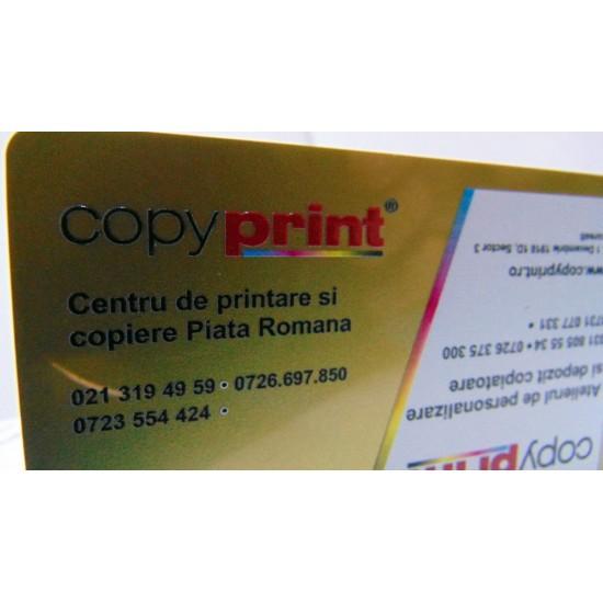 Carti de vizita plastic (imprimate UV)