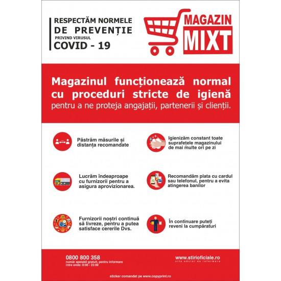 Autocolant functionare normala magazine (set 3 buc)