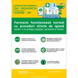 Autocolant functionare normala farmacie (set 3 buc)